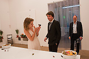 HARRY BLAIN; NATALIA VODIANOVA; ANTOINE ARNAUD WITH BUTTERFLIES, Damien Hirst, Tate Modern: dinner. 2 April 2012.