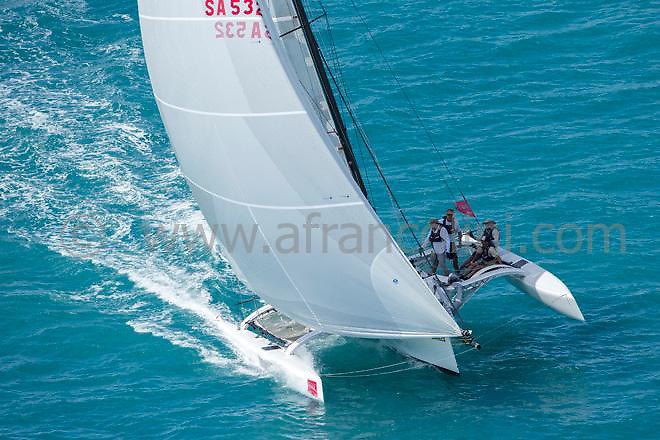 SAILING - Audi Hamilton Island Race Week 2014 - 16-23/08/2014<br />photo: Andrea Francolini/AUDI<br /><br />Caption: CARBON CREDIT<br /><br />Restrictions: no advertising and not third party promotional material.<br />Mandatory Credit