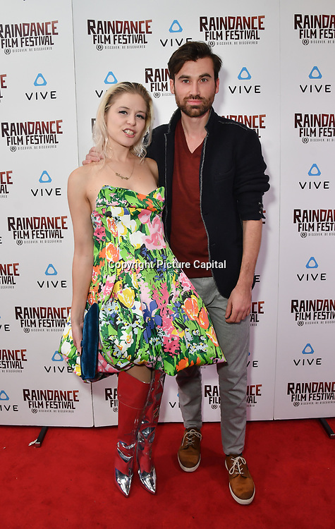 Ruud op den Kelder is a Creative Development and Chagall van den Berg  is a UX Designer nominated attends the Raindance Film Festival - VR Awards, London, UK. 6 October 2018.