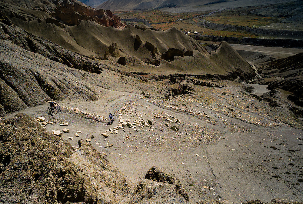 Rob Story & Seb Liljeberg, out there, Upper Mustang, Nepal.