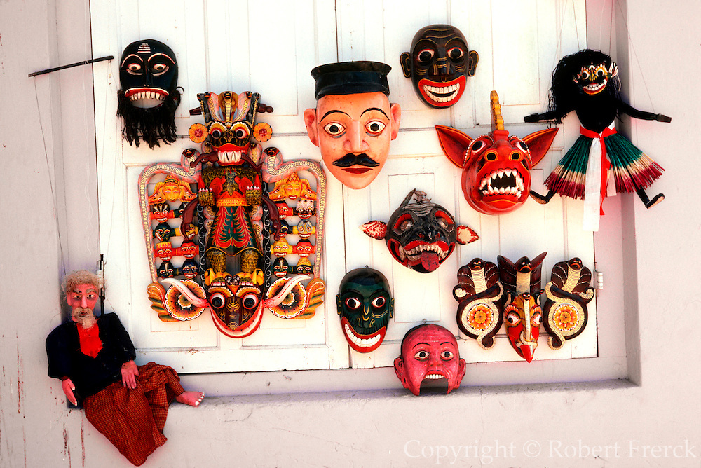 SRI LANKA, CRAFTS Ceremonial Dance Masks made in  Ambalangoda