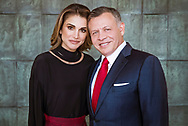 30.01.2018; Amman, Jordan: QUEEN RANIA  AND KING ABDULLAH OF JORDAN<br />at the Royal Hashemite Court on the ocassion of King Abdullah&rsquo;s 56 birthday.<br />The king was born on 30th January 1962.<br />Mandatory Credit Photo: &copy;Hashimite Royal Court/NEWSPIX INTERNATIONAL<br /><br />(Failure to credit will incur a surcharge of 100% of reproduction fees)<br />IMMEDIATE CONFIRMATION OF USAGE REQUIRED:<br />Newspix International, 31 Chinnery Hill, Bishop's Stortford, ENGLAND CM23 3PS<br />Tel:+441279 324672  ; Fax: +441279656877<br />Mobile:  07775681153<br />e-mail: info@newspixinternational.co.uk<br />Please refer to usage terms. All Fees Payable To Newspix International