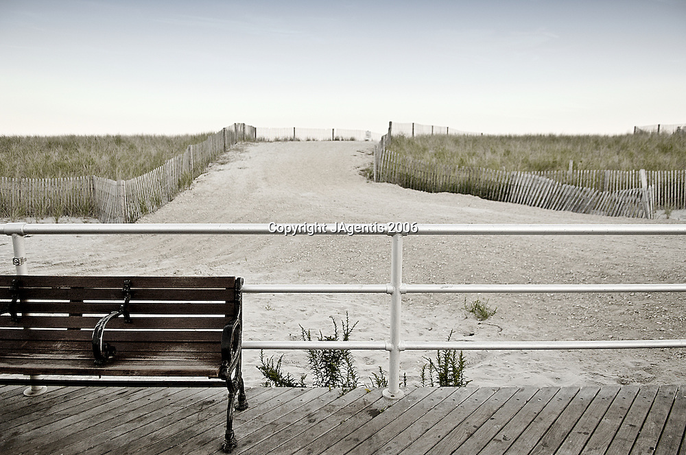 Bench On Atlantic City Boardwalk