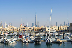 New redeveloped Jumeirah Fishing Harbour in Dubai United Arab Emirates