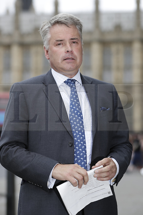 © Licensed to London News Pictures. 06/09/2016. London, UK. Tim Loughton MP has become acting chairman after Keith Vaz MP resigned as Chairman of the influential Home Affairs Select Committee . A Sunday newspaper has printed allegations that Mr Vaz met with male prostitutes at his flat. Photo credit: Peter Macdiarmid/LNP