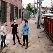 June 28, 2016 - New York, NY : From left, Jake Rosenthal, Dhruv Chopra, and Rami Haykal, who co-owned the Williamsburg performance space 'Glasslands Gallery,' until it closed in 2014, pose for a portrait outside 599 Johnson Ave. on Tuesday afternoon. The trio are planning to open their new venue 'Elsewhere' at 599 Johnson Ave. in Bushwick, Brooklyn. CREDIT: Karsten Moran for The New York Times