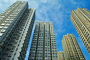 Skyscrapers apartment blocks and office buildings, Hong Kong.