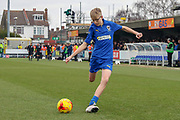 Mascot during the The FA Cup 5th round match between AFC Wimbledon and Millwall at the Cherry Red Records Stadium, Kingston, England on 16 February 2019.