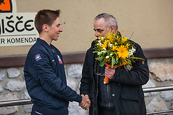 Reception of Tadej Pogacar, on February 26, 2019, in Komenda, Slovenia. Photo by Urban Meglic / Sportida
