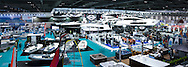 A panoramic view of the London Boat Show 2016. <br />