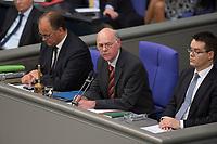 29 JUN 2012, BERLIN/GERMANY:<br /> Norbert Lammert (M), CDU, Praesident des Deutschen Bundestages, Bundestagsdebatte zum Fiskalpakt, zum dauerhaften Euro-Rettungsschirm ESM, zur ESM-Finanzierung und zur Aenderung des Vertrags über die Arbeitsweise der Europaeischen Union , Plenum, Deutscher Bundestag<br /> IMAGE: 20120629-01-020<br /> KEYWORDS: Fiskalpakt, dauerhafter Rettungsschirm EFSM, Fiskalvertrag, Einrichtung des Europäischen Stabilitätsmechanismus, Europäischen Stabilitätsmechanismus ESM-Finanzierungsgesetz ESMF, Stabilitaetsunion