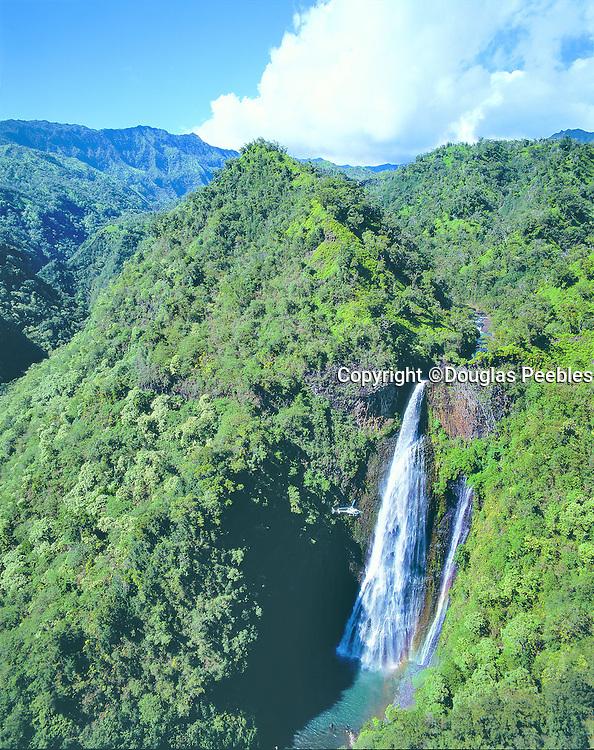 Helicopter, Manawaipuna Falls, Kauai, Hawaii