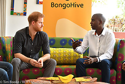 """Kensington Palace releases a photo on Twitter with the following caption: """"""""BongoHive, Zambia's first technology and innovation hub, provides a range of startup and tech programmes, workshops and events — The Duke of Sussex met entrepreneurs that have benefited from @BongoHive's work to make Zambia Africa's next hotbed of innovation. #RoyalVisitZambia"""""""". Photo Credit: Twitter *** No USA Distribution *** For Editorial Use Only *** Not to be Published in Books or Photo Books ***  Please note: Fees charged by the agency are for the agency's services only, and do not, nor are they intended to, convey to the user any ownership of Copyright or License in the material. The agency does not claim any ownership including but not limited to Copyright or License in the attached material. By publishing this material you expressly agree to indemnify and to hold the agency and its directors, shareholders and employees harmless from any loss, claims, damages, demands, expenses (including legal fees), or any causes of action or allegation against the agency arising out of or connected in any way with publication of the material."""