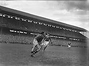Player catches ball during the All Ireland Minor Gaelic Football Final Meath v Armagh in Croke Park on the 21st September 1957.