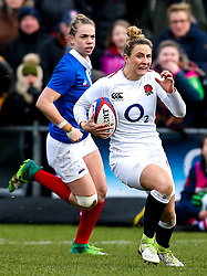 Sarah McKenna of England Women - Mandatory by-line: Robbie Stephenson/JMP - 10/02/2019 - RUGBY - Castle Park - Doncaster, England - England Women v France Women - Women's Six Nations