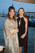 SONIA FALCONE; Princess Isabella  Orsini de Ligne de la Tremoille;, Dinner for Sonia Falcone to celebrate her participation in 56th Venice Biennale she represented Bolivia at the Pavilion of the Instituto Italo-Latinoamericano at the Arsenale. Dinner at the Ridotto Ballroom, Hotel Monaco and Grand Canal, Venice, Venice Biennale, Venice. 8 May 2015