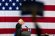 Democratic presidential candidate Sen. Bernie Sanders, I-Vt., speaks at a campaign stop. (AP Photo/Andy Manis)