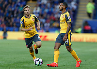Football - 2016/2017 Premier League - Leicester Ciity V Arsenal. <br /> <br /> Theo Walcott and Nacho Monreal of Arsenal at The King Power Stadium.<br /> <br /> COLORSPORT/DANIEL BEARHAM