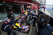 February 21, 2013 - Barcelona Spain. Mark Webber, Red Bull Racing during pre-season testing from Circuit de Catalunya.