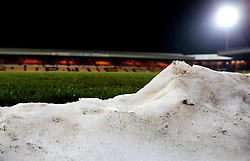A general view of Vale Park, home of Port Vale, with snow and ice cleared from the pitch - Mandatory by-line: Robbie Stephenson/JMP - 20/01/2017 - FOOTBALL - Vale Park - Stoke-on-Trent, England - Port Vale v Bury - Sky Bet League One