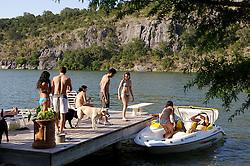 Colorado River at Lake Marble Falls in Burnet County, Texas