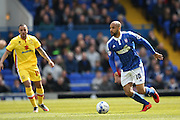 Ipswich Town striker David McGoldrick (10)  during the Sky Bet Championship match between Ipswich Town and Milton Keynes Dons at Portman Road, Ipswich, England on 30 April 2016. Photo by Simon Davies.