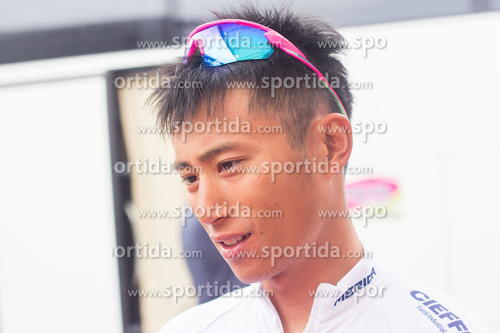 FENG Chun Kai (Taiwan) of Team Lampre - Merida before Stage 2 of 22nd Tour of Slovenia 2015 from Skofja Loka to Kocevje (183 km) cycling race on June 19, 2015 in Slovenia. Photo by Ziga Zupan / Sportida