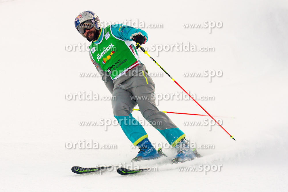 Filip Flisar winning small final (5th place overall) in ski cross world cup race, in Innichen San Candido, Italy, on december 19th, 2015. Photo by Peter Kastelic / Sportida