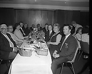 Friendly Sons of the Shillelagh Dinner..1971.17.03.1971..03.17.1971..17th March 1971..In conjunction with Irish Tourism, and to celebrate St Patrick's Day,the Friendly Sons of the Shillelagh held their annual dinner in Dublin tonight.The Friendly Sons of the Shillelagh is an Irish-American fraternal organization founded in 1964 by Jack Dunphy and Harry Knox from Old Bridge, New Jersey. .Pictured at the dinner, of the Friendly Sons of the Shillelagh,  were the committee members of the society.