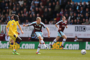 Burnley midfielder Scott Arfield (37)  during the Sky Bet Championship match between Burnley and Leeds United at Turf Moor, Burnley, England on 9 April 2016. Photo by Simon Davies.