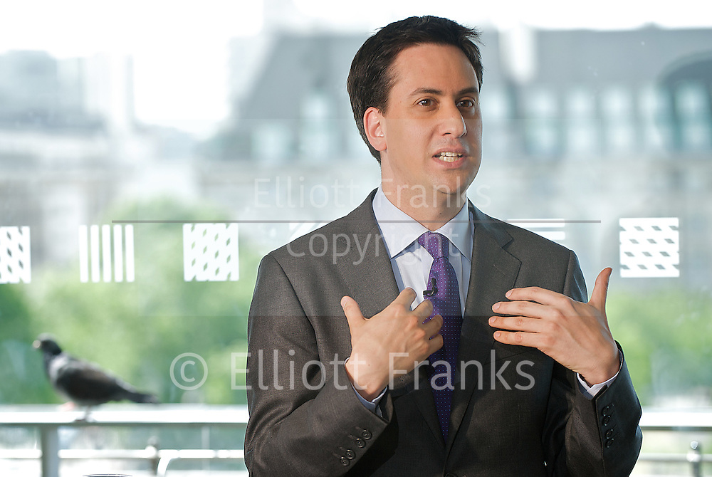 Rt Hon Ed Miliband MP<br /> is a British Labour Party politician, currently Leader of the Labour Party and Leader of the Opposition. He has been the Member of Parliament (MP) for the South Yorkshire constituency of Doncaster North since 2005 <br /> speaking at The Royal Festival Hall, Southbank, London, Great Britain <br /> 23rd May 2011