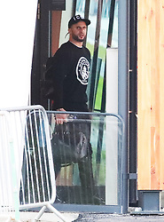 Kyle Walker and other members of the Manchester City team are seen at Manchester Airport as they travel for their Champions League fixture.