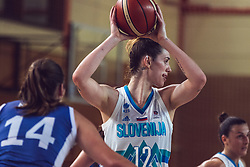 Eva Lisec of Slovenia v s Michaela Rakova of Slovakia during Women's Basketball - Slovenia vs Slovaska on the 14th of June 2019, Dvorana Poden, Skofja Loka, Slovenia. Photo by Matic Ritonja / Sportida