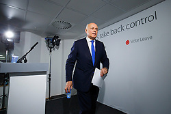 © Licensed to London News Pictures. 10/05/2016. London, UK. Former Secretary of State for Work and Pensions IAIN DUNCAN SMITH delivers a speech on the EU and social justice in Westminster, London on May 10, 2016. An in-out referendum on the UK's membership of the EU is due to be held on June 23rd, 2016. Photo credit: Tolga Akmen/LNP