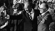 Egyptian President Anwar Sadat and Israeli Prime Minister Menachem Begin acknowledge applause during a Joint Session of Congress in which President Jimmy Carter announced Camp David Accords 1978