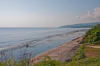 Seaweed farms along the coast of Nusa Penida, Bali, Indonesia