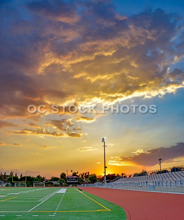 Garden Grove High School Football Field at Sunset