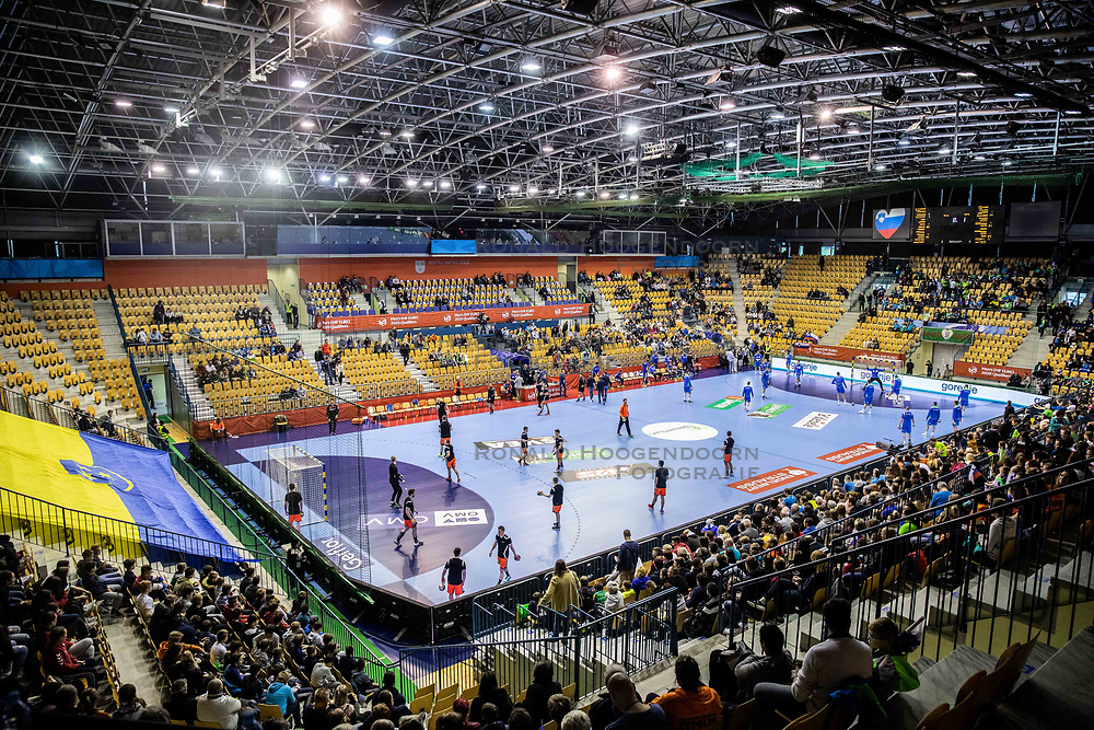 14-04-2019 SLO: Qualification EHF Euro Slovenia - Netherlands, Celje<br /> Arena prior to the handball match between National teams of Slovenia and Netherlands in Qualifications of 2020 Men's EHF EURO