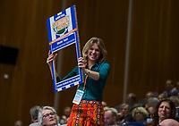 UTRECHT - Blauwe kaart,  Carolien Snieders Nationaal Hockey Congres van de KNHB, COPYRIGHT KOEN SUYK