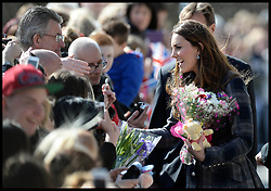 The Duke and The Duchess of Cambridge visit the Donald Dewar Leisure Centre, Glasgow, Scotland, Thursday March 4 April, 2013. Photo By Andrew Parsons / i-lmages.