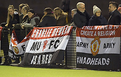 February 20, 2019 - Sheffield, United Kingdom - Manchester United supporters ahead of the match the  FA Women's Championship football match between Sheffield United Women and Manchester United Women at the Olympic Legacy Stadium, on February 20th Sheffield, England. (Credit Image: © Action Foto Sport/NurPhoto via ZUMA Press)