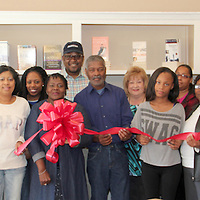 CELESTIAL CHRISTIAN STORE<br /> (Amanda Smith / Buy at photos.chickasawjournal.com)<br /> Ester and Celestine Townsend, center holding ribbon, formally opened Celestial Christian Store Saturday morning, Feb. 13, 2016 at 443 E. Madison in downtown Houston with family, friends and CDF members in attendance. Celestial Christian Store sells Bibles, books by Christian authors, robes, artwork, church literature and envelopes. Hours are 9 a.m. to 5 p.m. and they are closed Wednesday and Sunday, but can be reached by calling 567-6882.