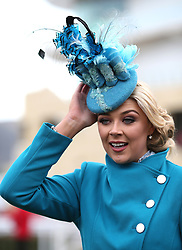 Miss England Stephanie Hill during Ladies Day of the 2018 Cheltenham Festival at Cheltenham Racecourse. PRESS ASSOCIATION Photo. Picture date: Wednesday March 14, 2018. See PA story RACING Cheltenham. Photo credit should read: Steven Paston/PA Wire. RESTRICTIONS: Editorial Use only, commercial use is subject to prior permission from The Jockey Club/Cheltenham Racecourse.