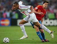 v.l. Thierry Henry, Alonso Xabi Spanien<br />