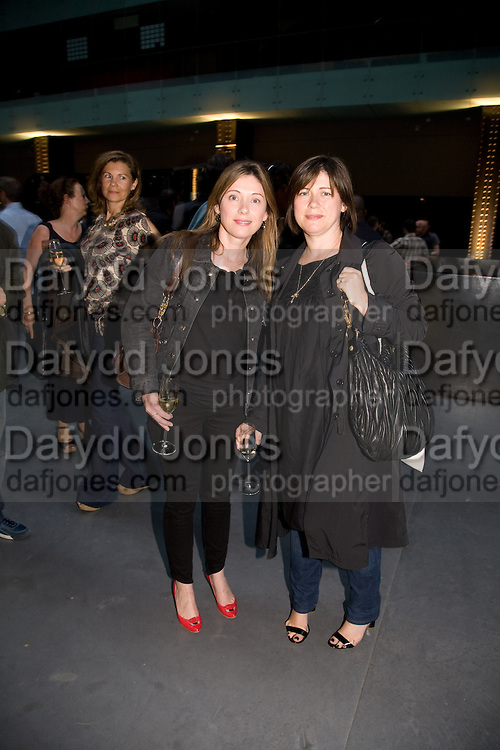 LOUISE AND JANE WILSON, HBOX opening Hosted by Tate Modern and Hermes.  Turbine Hall. London. 3 July 2008.  *** Local Caption *** -DO NOT ARCHIVE-© Copyright Photograph by Dafydd Jones. 248 Clapham Rd. London SW9 0PZ. Tel 0207 820 0771. www.dafjones.com.