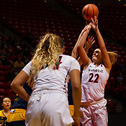 08 December 2017:  The San Diego State women's basketball team hosts UC Irvine Friday afternoon. The Aztecs dropped a close game to the Anteaters 67-65.<br /> www.sdsuaztecphotos.com