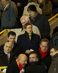 WOLVERHAMPTON, ENGLAND - Tuesday, January 31, 2012: Former Liverpool chief-executive Christian Purslow during the Premiership match against Liverpool at Molineux. (Pic by David Rawcliffe/Propaganda)