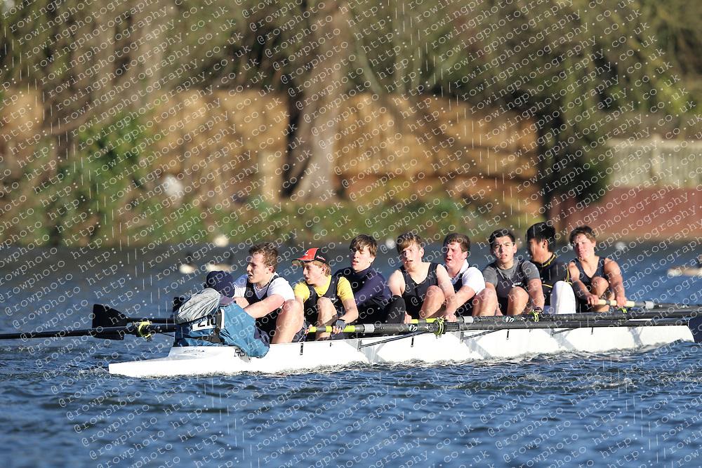 2012.02.25 Reading University Head 2012. The River Thames. Division 2. Eton College Boat Club Nov 8+
