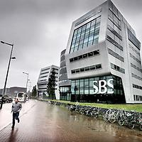 Nederland, Amsterdam , 16 mei 2013.<br /> Het SBS omroepgebouw aan Rietlandpark in Amsterdam.<br /> Foto:Jean-Pierre Jans