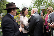 JOOLS HOLLAND, MARY MCCARTNEY AND BRIAN CLARK. Opening day of the Chelsea Flower Show. Royal Hospital Grounds. London. 19 May 2008 *** Local Caption *** -DO NOT ARCHIVE-© Copyright Photograph by Dafydd Jones. 248 Clapham Rd. London SW9 0PZ. Tel 0207 820 0771. www.dafjones.com.